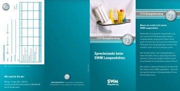Sprechstunde beim SWM Lampendoktor.