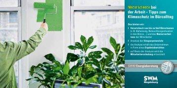 bei der Arbeit – Tipps zum Klimaschutz im Büroalltag