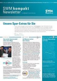 SWM kompakt Newsletter - Städtische Werke Magdeburg