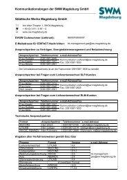 Kommunikationsbogen der SWM Magdeburg GmbH Städtische ...