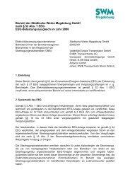 Bericht der Städtische Werke Magdeburg GmbH nach § 52 Abs. 1 ...