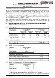 Netzzugangsentgelte Strom - Stadtwerke Meerane GmbH