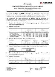 Netznutzungsentgelte Strom (rückwirkend gültig ab 01.06.2008 ...