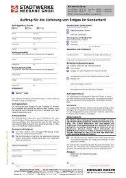 Formular Gas im Sondertarif! - Stadtwerke Meerane GmbH