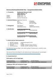 Kontaktdatenblatt Netz Erdgas (gültig ab 18.01.2013) - Stadtwerke ...