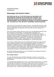 Messwagen soll Antwort liefern - Stadtwerke Meerane GmbH