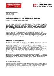 20.09.2012: Stadtwerke Meerane und Media Markt Meerane laden ...