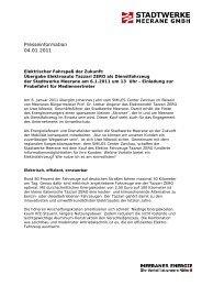 Elektrischer Fahrspaß der Zukunft - Stadtwerke Meerane GmbH