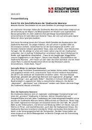 28.03.2013: Kunst für die Geschäftsräume der Stadtwerke Meerane