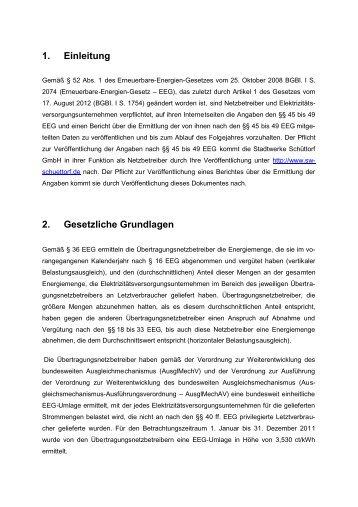 1. Einleitung 2. Gesetzliche Grundlagen - Sw-schuettorf.de