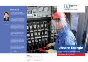 """""""UNsere Energie"""" 01/2013 (2.5 MB) - Stadtwerke Unna"""
