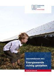 Geschäftsbericht 2011 - Stadtwerke Unna