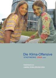 Umweltdaten zur Umwelterklärung 2004 - Stadtwerke Unna