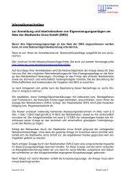 Informationsschreiben zur Anmeldung und ... - Stadtwerke Unna