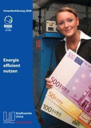 Umwelterklärung 2006 - Stadtwerke Unna