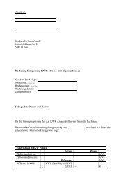 Muster Rechnung Einspeisung KWK-Strom – mit ... - Stadtwerke Unna