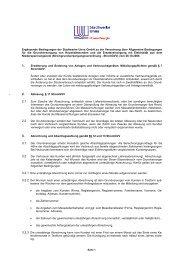 Ergänzende Bedingungen für die ... - Stadtwerke Unna