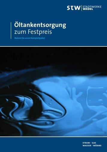Öltankentsorgung zum Festpreis - Stadtwerke Wedel