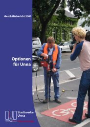 Geschäftsbericht 2003 - Stadtwerke Unna