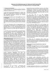 Allgemeine Geschäftsbedingungen für ... - Stadtwerke Wedel