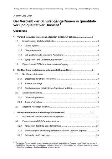 """Der Vortrag von Dr. Joachim Gerd Ulrich - Das Programm """"Schule ..."""