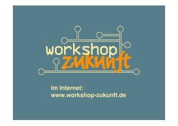 """Workshop Zukunft - Das Programm """"Schule - Wirtschaft/ Arbeitsleben"""""""