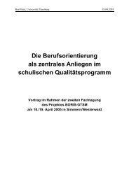 Die Berufsorientierung - Das Programm