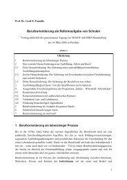 Berufsorientierung als Reformaufgabe von Schulen - Das Programm ...