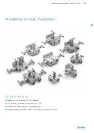 Manifolds d'instrumentation - Swagelok