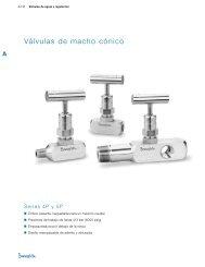 Válvulas de Macho Cónico: Series 4P y 5P (MS-01-49 ... - Swagelok
