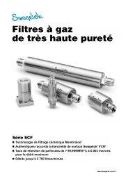 Filtres à gaz de très haute pureté: Série SCF (MS-02 ... - Swagelok