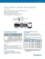 Check Valves, Special Alloy Materials, CH Series (MS ... - Swagelok