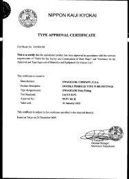 Maritime Certifications Approvals, Nippon Kaiji Kyokai ... - Swagelok