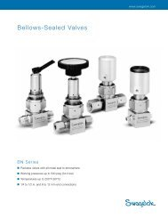 Bellows-Sealed Valves, BN Series - Swagelok