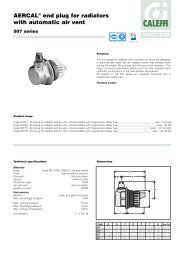 AERCAL® end plug for radiators with automatic air vent - Caleffi