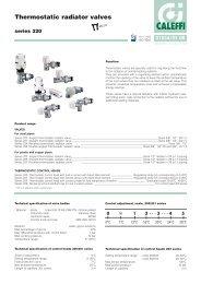 Thermostatic radiator valves - Caleffi
