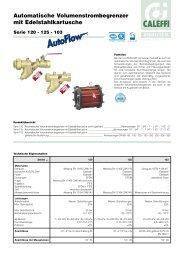 Automatischer Volumenstrombegrenzer mit ... - Caleffi