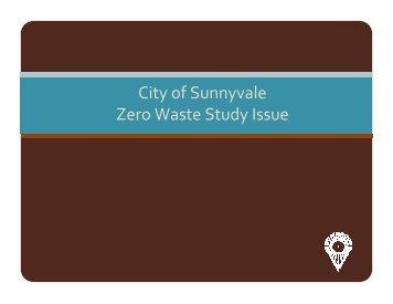 Sunnyvale, CA - Zero Waste Study - SWALCO