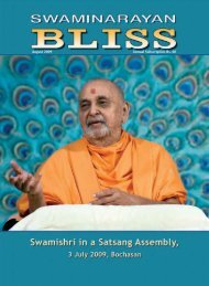 August 2009 Annual Subscription Rs. 60 - Swaminarayan Sanstha