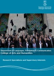 College of Arts and Humanities - Swansea University