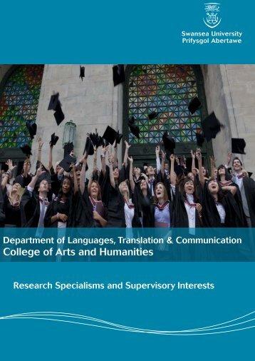 College of Arts and Humanities - Swansea University