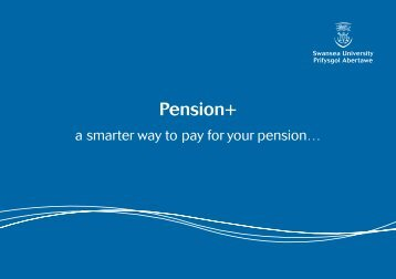 Pension+ booklet (English version) - Swansea University