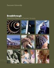 Breakthrough cover - Swansea University