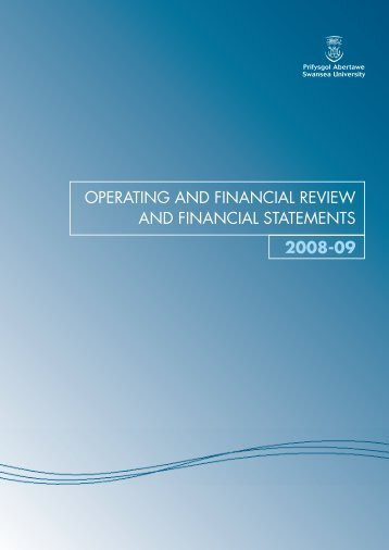 Financial Statements 2008-09 - Swansea University
