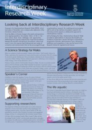 Interdisciplinary Research Week - Swansea University