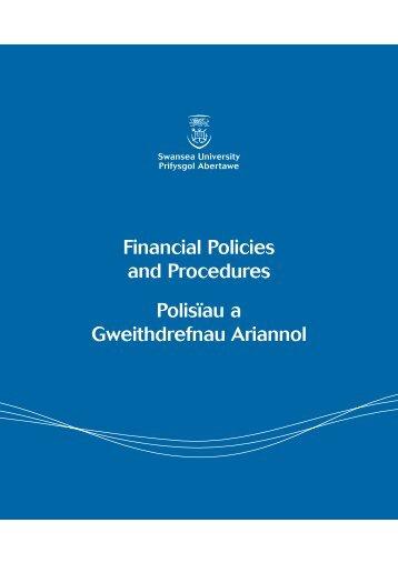 Financial Policies and Procedures Polisďau a Gweithdrefnau Ariannol