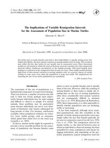 pdf reprint - Seaturtle.org