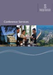 Conference Services Brochure - Swansea University
