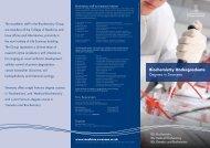BSc Biochemistry Programmes e-brochure - Swansea University