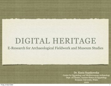 Digital Heritage - Swansea University